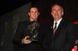 Peter Dempsey is presented the Greg Moore Legacy Award at the 2013 INDYCAR Championship Celebration -- Photo by: Chris Jones