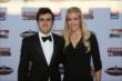 Tristan Vautier and his girlfriend arrive at the 2013 INDYCAR Championship Celebration -- Photo by: Chris Jones
