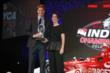 Josef Newgarden accepts the Tony Renna Rising Star Award from Firestone at the 2013 INDYCAR Championship Celebration -- Photo by: Chris Jones