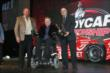 Sam Schmidt accepts the winning car owner's Firestone Firehawk trophy for the 2013 Firestone Indy Lights championship -- Photo by: Chris Jones