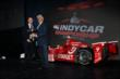 Scott Dixon accepts his Astor Challenge Cup from Mark Miles for his 2013 IZOD IndyCar Series championship -- Photo by: Chris Jones