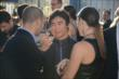 Takuma Sato chats with Tony and Lauren Kanaan prior to the 2013 INDYCAR Championship Celebration -- Photo by: Chris Owens