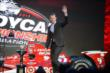 Charlie Kimball is introduced to the crowd during the opening of the 2013 INDYCAR Championship Celebration -- Photo by: Chris Owens