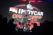 James Hinchcliffe at the microphone during the 2013 INDYCAR Championship Celebration -- Photo by: Chris Owens