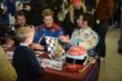 Bryan Herta, Josef Newgarden, and Simon Pagenaud sign autographs at the Dan Wheldon Pro-Am Karting Classic -- Photo by: Chris Owens