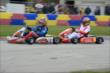 Josef Newgarden and Sage Karam go nose-to-tail during the Dan Wheldon Pro-Am Karting Classic -- Photo by: Chris Owens