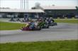 The field bunches together during a restart of the Dan Wheldon Pro-Am Karting Classic -- Photo by: Chris Owens