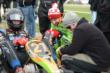 JR Hildebrand prepares for his segment with James Hinchcliffe at the Dan Wheldon Pro-Am Karting Classic -- Photo by: Chris Owens