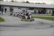 JR Hildbrand leads the field during a segment at the Dan Wheldon Pro-Am Karting Classic -- Photo by: Chris Owens