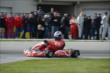 Scott Dixon apexes a corner during the Dan Wheldon Pro-Am Karting Classic -- Photo by: Chris Owens