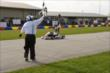 Marino Franchitti takes the checkered flag during his segment of the Dan Wheldon Pro-Am Karting Classic -- Photo by: Chris Owens