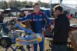 Josef Newgarden stands next to his RoboPong 200 kart. -- Photo by: Chris Owens