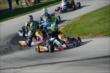 Conor Daly leads a group of karts during the 2013 RoboPong 200 -- Photo by: Chris Owens