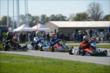 Gabby Chaves and Josef Newgarden lead a group of karts during the 2013 RoboPong 200 -- Photo by: Chris Owens