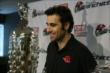 Dario Franchitti with the Borg-Warner Trophy during his retirement press conference at the Target Chip Ganassi Racing offices -- Photo by: Chris Jones