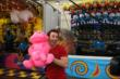 Simon Pagenaud is a big winner in the Indiana State Fair carnival games -- Photo by: Chris Jones