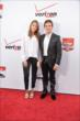 Carlos Munoz and his date on the red carpet prior to the 2014 INDYCAR Championship Celebration -- Photo by: John Cote