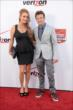 Marco Andretti and his girlfriend Marta on the red carpet prior to the 2014 INDYCAR Championship Celebration