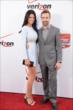 James Hinchcliffe and his girlfriend Kirsten on the red carpet prior to the 2014 INDYCAR Championship Celebration