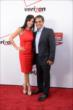 Juan Pablo Montoya and his wife Connie arrive on the red carpet prior to the 2014 INDYCAR Championship Celebration