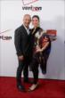 Tony Kanaan and his wife Lauren arrive on the red carpet prior to the 2014 INDYCAR Championship Celebration
