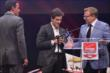 Carlos Munoz accepts the 2014 Verizon IndyCar Series Rookie of the Year Award during the 2014 INDYCAR Championship Celebration -- Photo by: Chris Owens