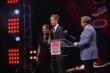 Jack Hawksworth accepts the 2014 Tony Renna Rising Star Award during the 2014 INDYCAR Championship Celebration -- Photo by: Chris Owens