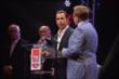 Helio Castroneves at the podium during the 2014 INDYCAR Championship Celebration -- Photo by: Chris Owens
