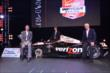 Will Power, Tim Cindric, and Roger Penske with the championship car following the 2014 INDYCAR Championship Celebration -- Photo by: Chris Owens