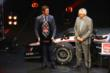 Scott Dixon accepts the series 3rd Place trophy during the 2014 INDYCAR Championship Celebration -- Photo by: Chris Jones
