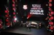 Charlie Kimball receives the TAG Heuer Don't Crack Under The Pressure Award at the 2014 INDYCAR Championship Celebration -- Photo by: Joe Skibinski