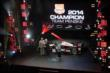 Roger Penske receives the 2014 Champion Team Owner Astor Cup trophy at the 2014 INDYCAR Championship Celebration -- Photo by: Joe Skibinski