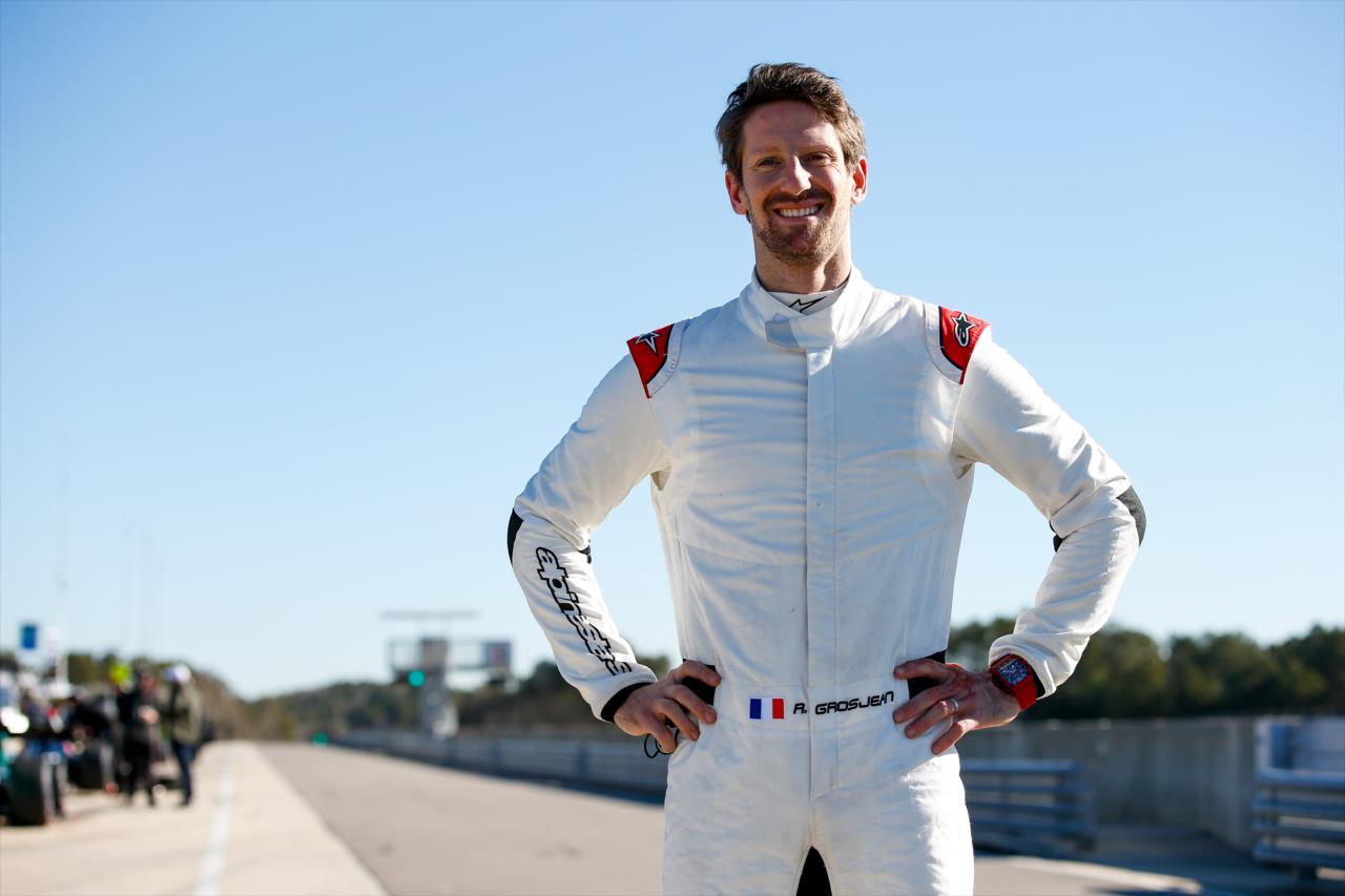 Recuperado do acidente no Bahrein, Romain Grosjean está pronto para ação (Joe Skibinski/Indycar)