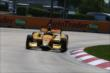 Ryan Hunter-Reay on course during practice for the Chevrolet Dual In Detroit -- Photo by: Chris Jones