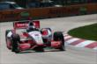 Juan Pablo Montoya on course during practice for the Chevrolet Dual In Detroit -- Photo by: Chris Jones