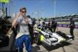Josef Newgarden on pitlane prior to practice for the Chevrolet Dual In Detroit -- Photo by: Chris Jones