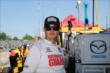 Graham Rahal on pit lane prior to practice for the Chevrolet Dual in Detroit -- Photo by: Chris Jones