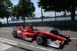 Scott Dixon enters pit lane during practice for the Chevrolet Dual in Detroit -- Photo by: Chris Jones
