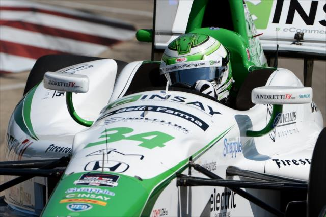 IndyCar: Leading Rookie Carlos Munoz assesses season so far