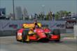 Sebastian Saavedra exits Turn 2 during practice for the Chevrolet Dual In Detroit -- Photo by: Chris Owens