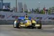 Marco Andretti exits Turn 2 during practice for the Chevrolet Dual In Detroit -- Photo by: Chris Owens