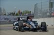 Tony Kanaan exits Turn 2 during practice for the Chevrolet Dual In Detroit -- Photo by: Chris Owens