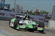 Sebastien Bourdais exits Turn 2 during practice for the Chevrolet Dual In Detroit -- Photo by: Chris Owens