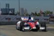 Takuma Sato exits Turn 2 during practice for the Chevrolet Dual In Detroit -- Photo by: Chris Owens
