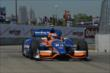 Charlie Kimball exits Turn 2 during practice for the Chevrolet Dual In Detroit -- Photo by: Chris Owens