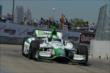 Carlos Munoz exits Turn 2 during practice for the Chevrolet Dual In Detroit -- Photo by: Chris Owens