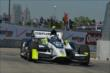Josef Newgarden exits Turn 2 during practice for the Chevrolet Dual In Detroit -- Photo by: Chris Owens