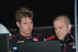 Will Power reviews practice data at Belle Isle -- Photo by: Chris Owens