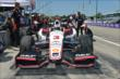 Helio Castroneves on pit lane before practice for the Chevrolet Dual In Detroit -- Photo by: Chris Owens