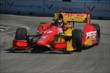 Sebastian Saavedra on course during practice for the Chevrolet Dual in Detroit -- Photo by: Chris Owens